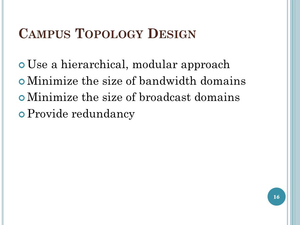 Campus Topology Design