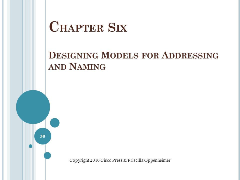 Chapter Six Designing Models for Addressing and Naming