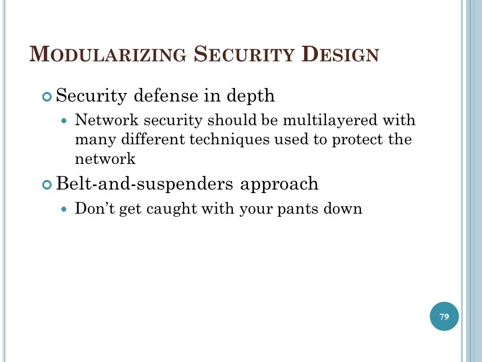 Modularizing Security Design