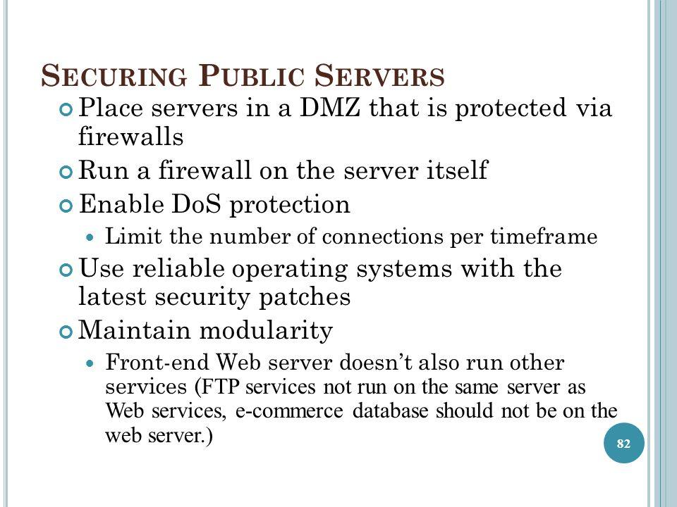 Securing Public Servers
