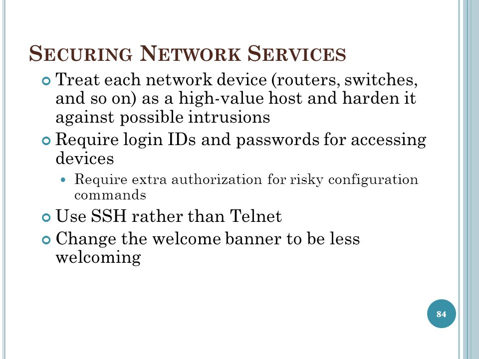 Securing Network Services