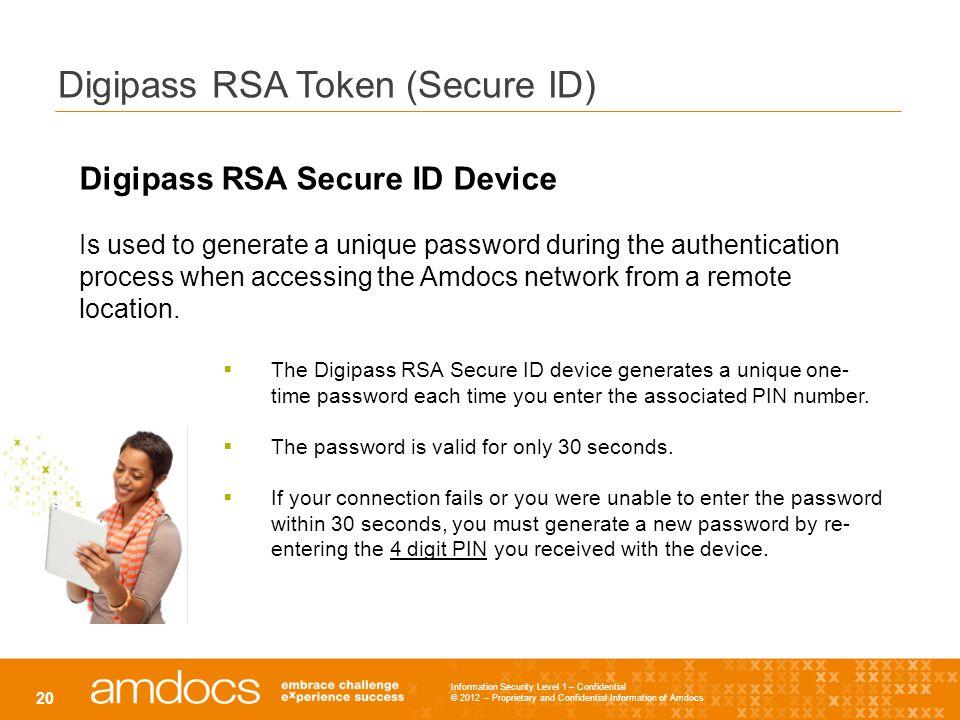 Digipass RSA Token (Secure ID)