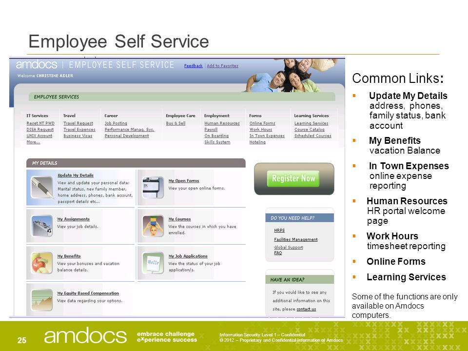 Employee Self Service Common Links: Update My Details address, phones,