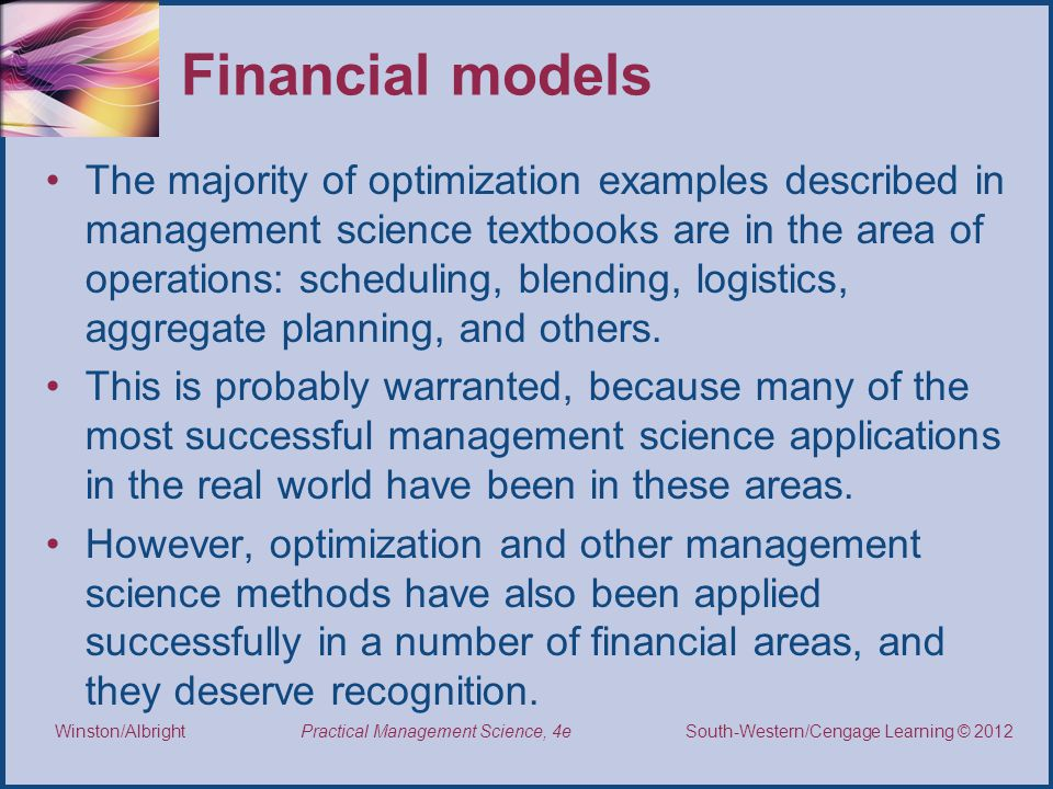 Financial models