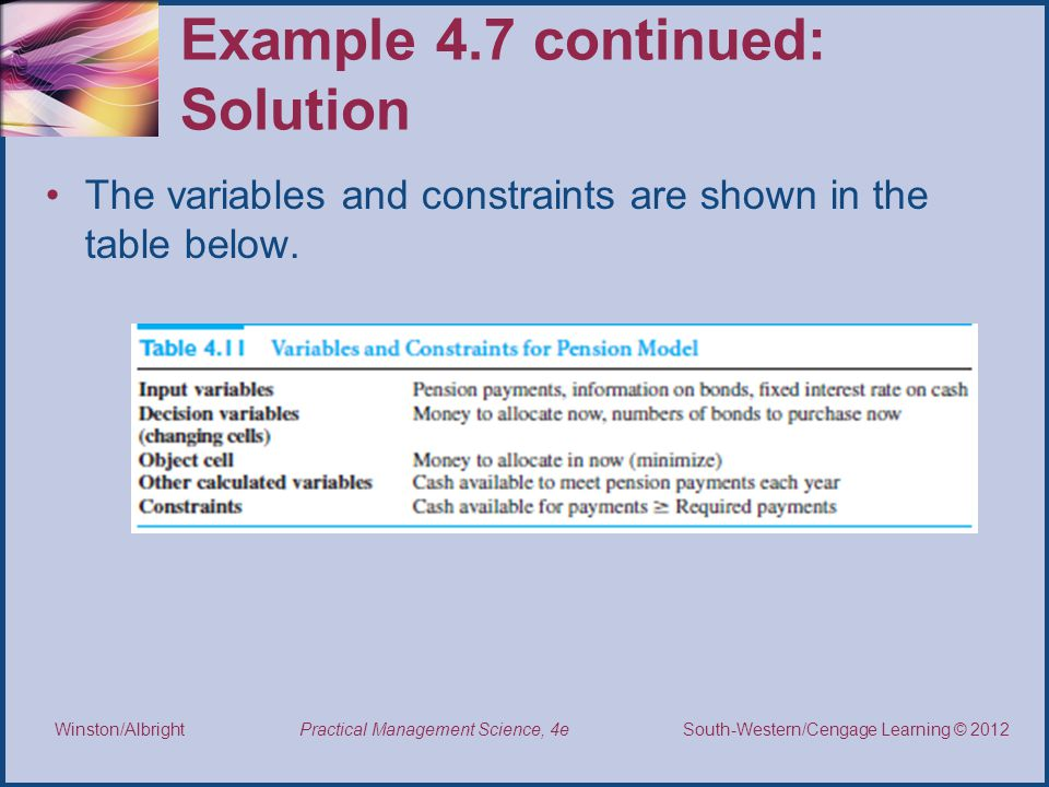 Example 4.7 continued: Solution