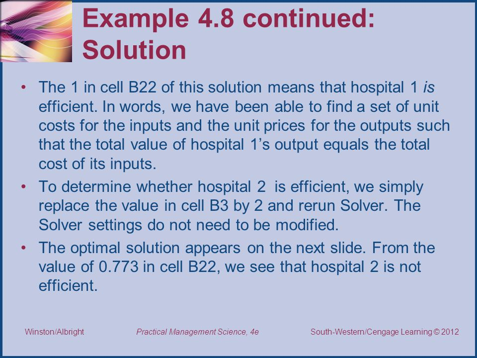 Example 4.8 continued: Solution