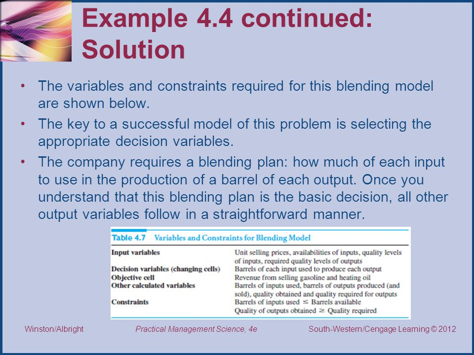 Example 4.4 continued: Solution