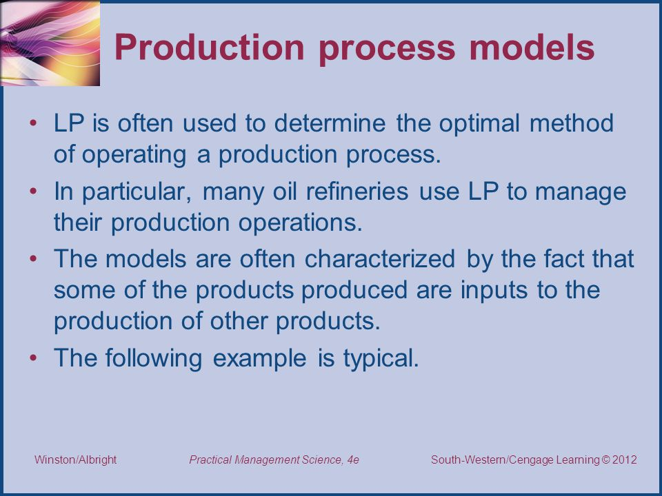 Production process models