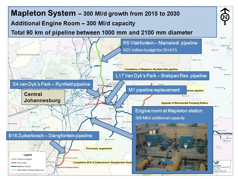 Mapleton System – 300 Ml/d growth from 2015 to 2030