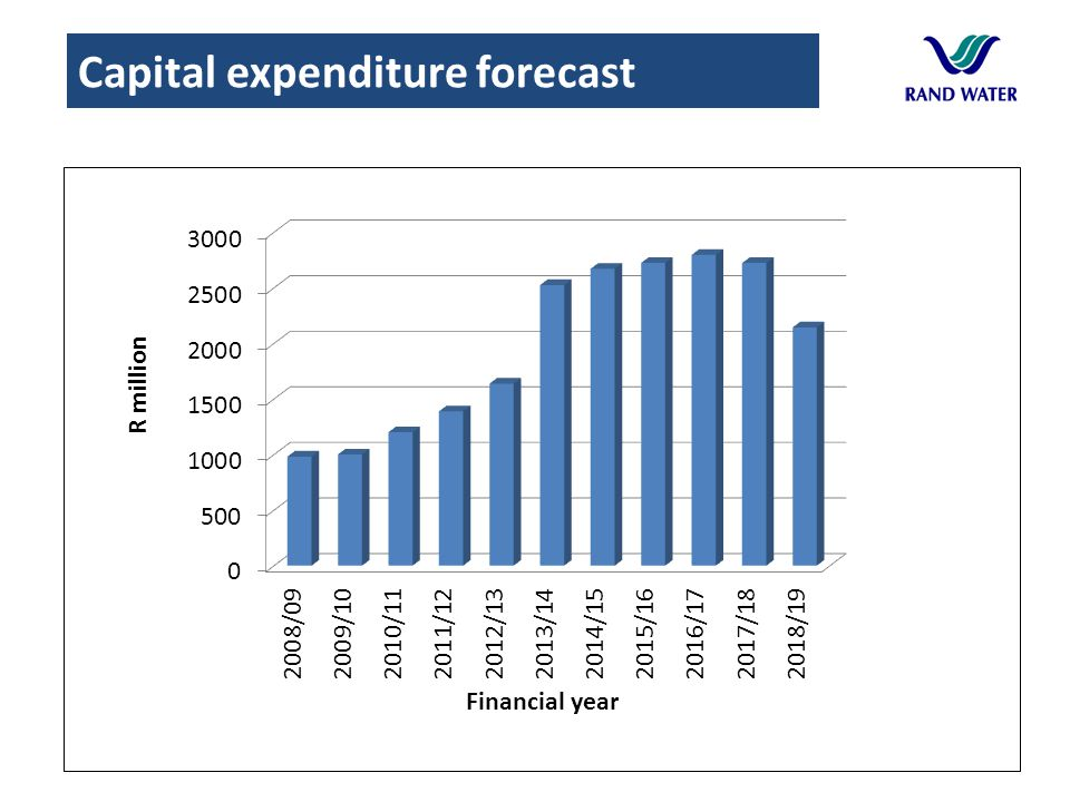 Capital expenditure forecast