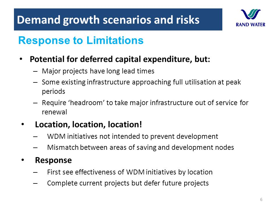 Demand growth scenarios and risks