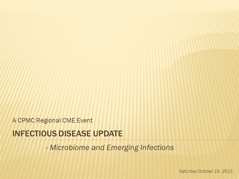 INFECTIOUS DISEASE Update