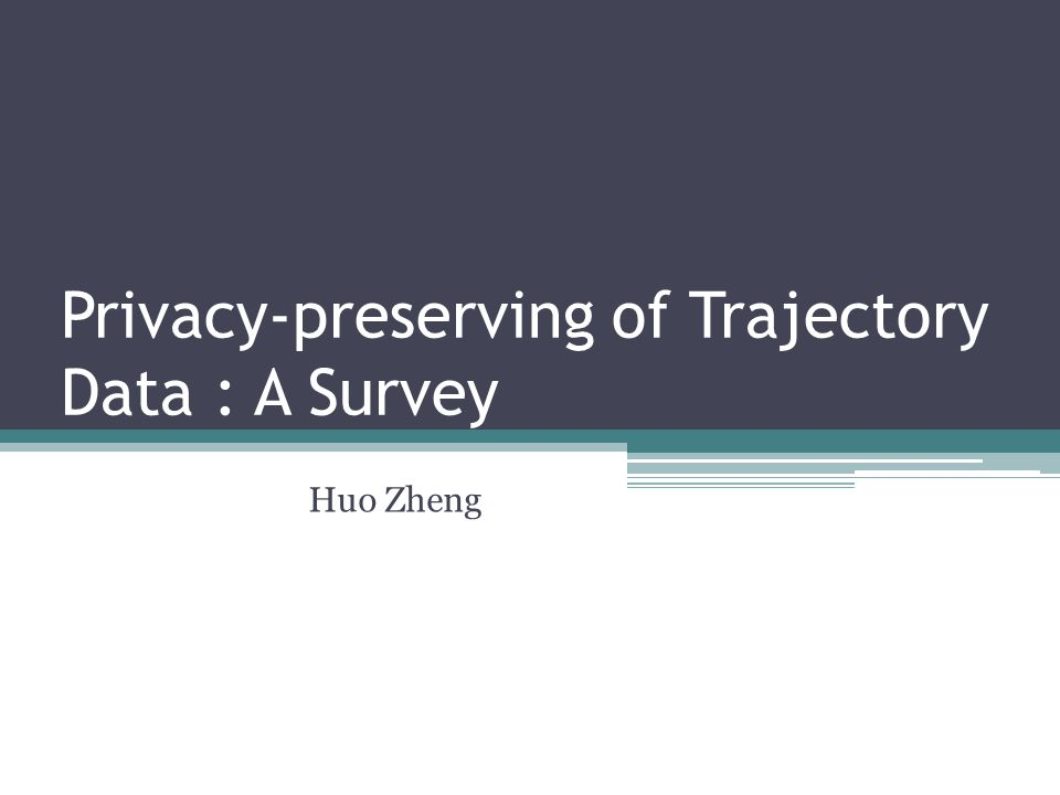 Privacy-preserving of Trajectory Data : A Survey