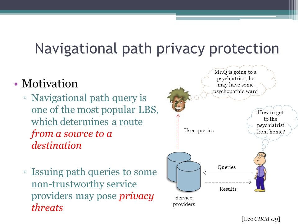 Navigational path privacy protection