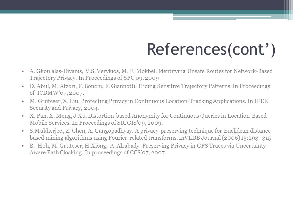 References(cont')