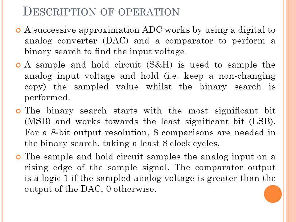 Description of operation
