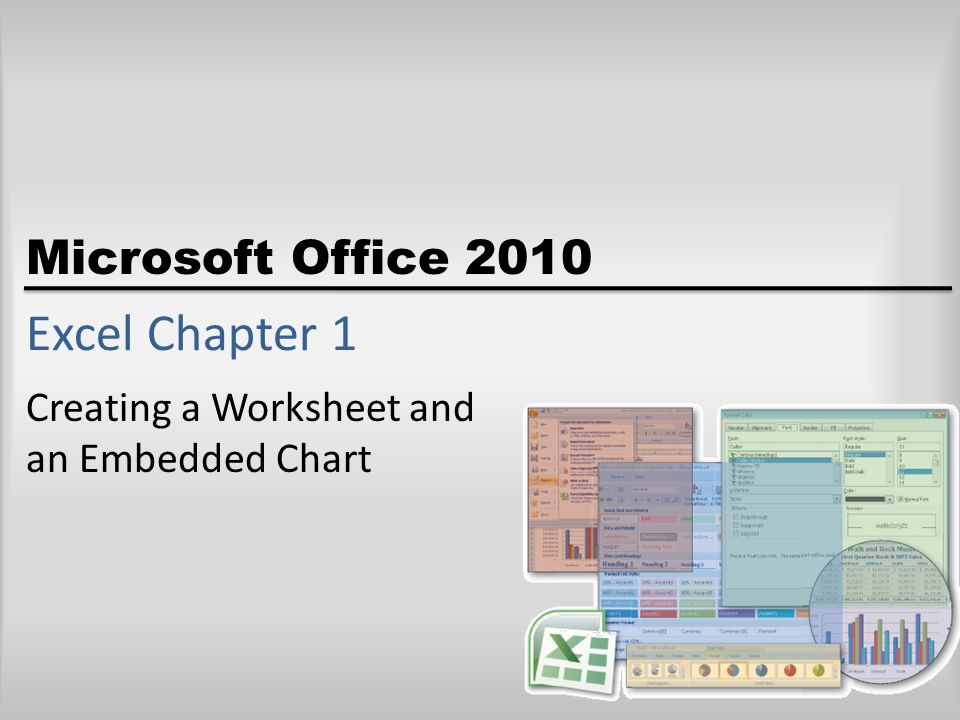 Creating a Worksheet and an Embedded Chart