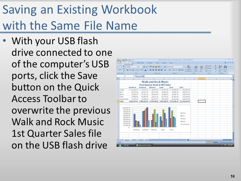 Saving an Existing Workbook with the Same File Name