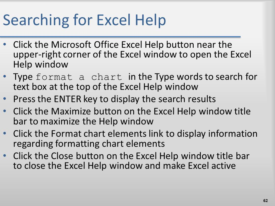 Searching for Excel Help