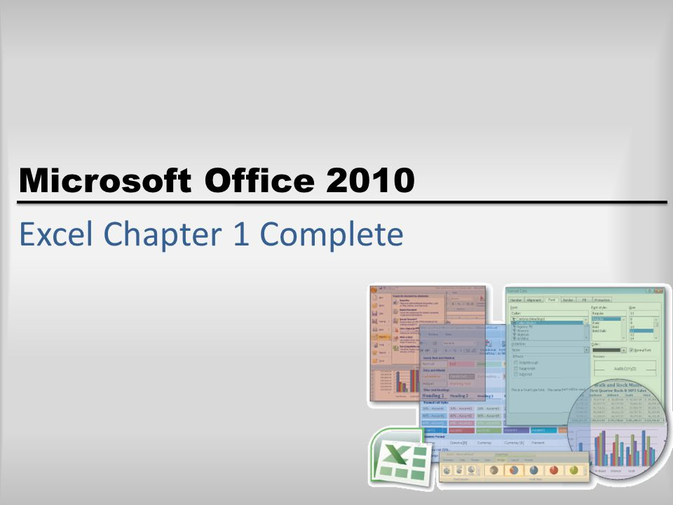 Excel Chapter 1 Complete