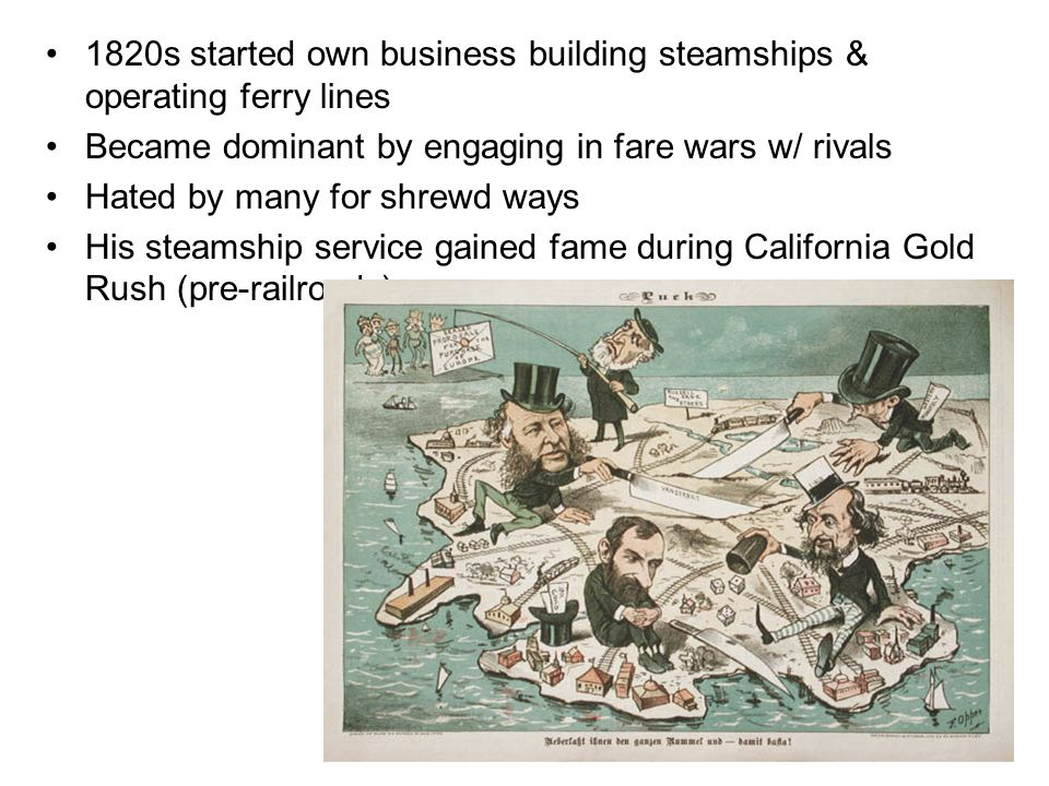 1820s started own business building steamships & operating ferry lines