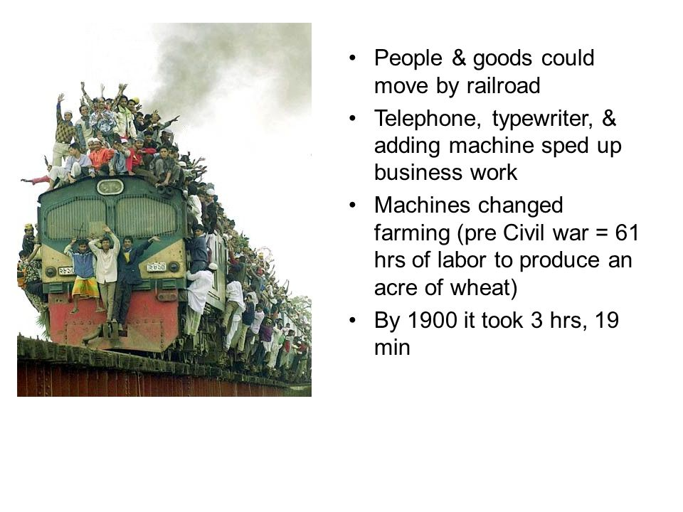 People & goods could move by railroad