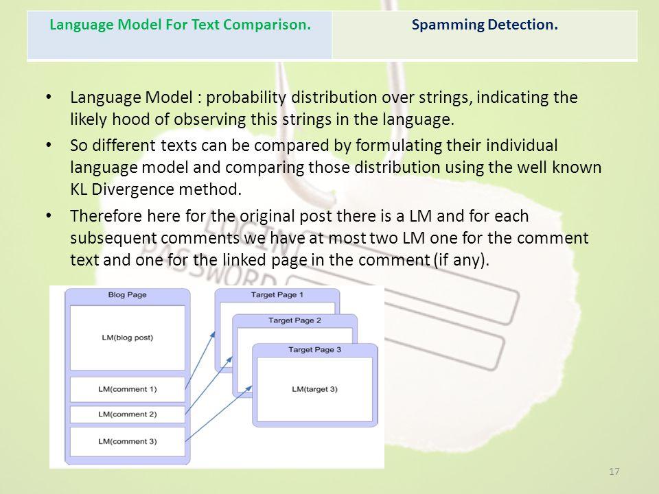 Language Model For Text Comparison.
