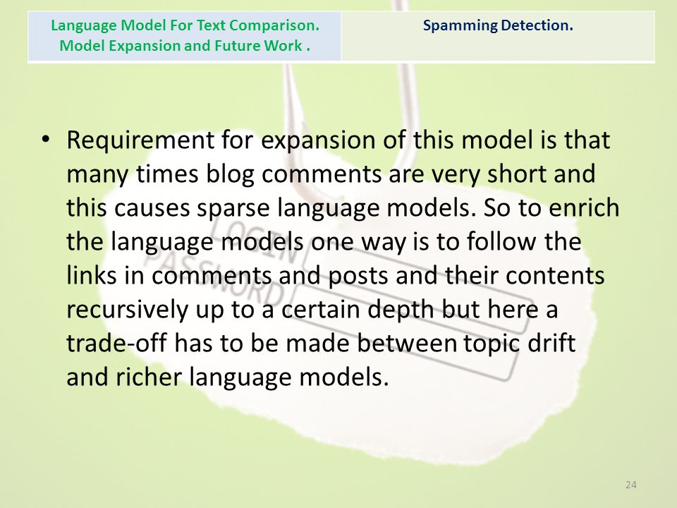 Language Model For Text Comparison. Model Expansion and Future Work .