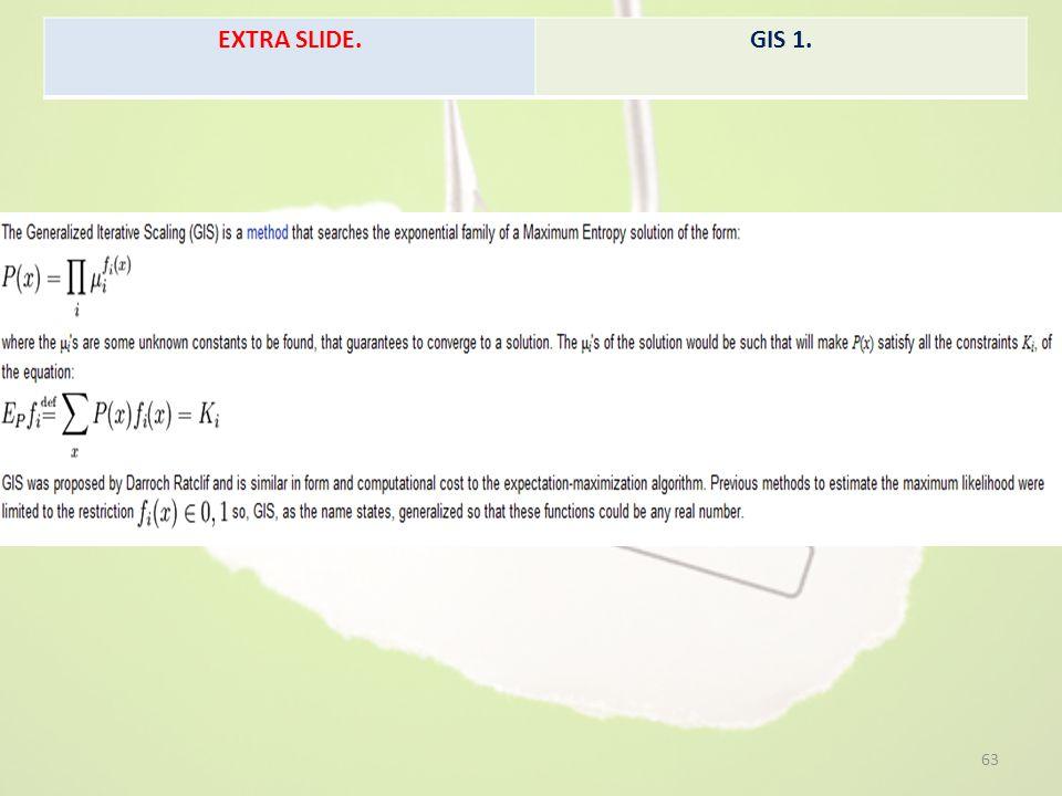 EXTRA SLIDE. GIS 1.