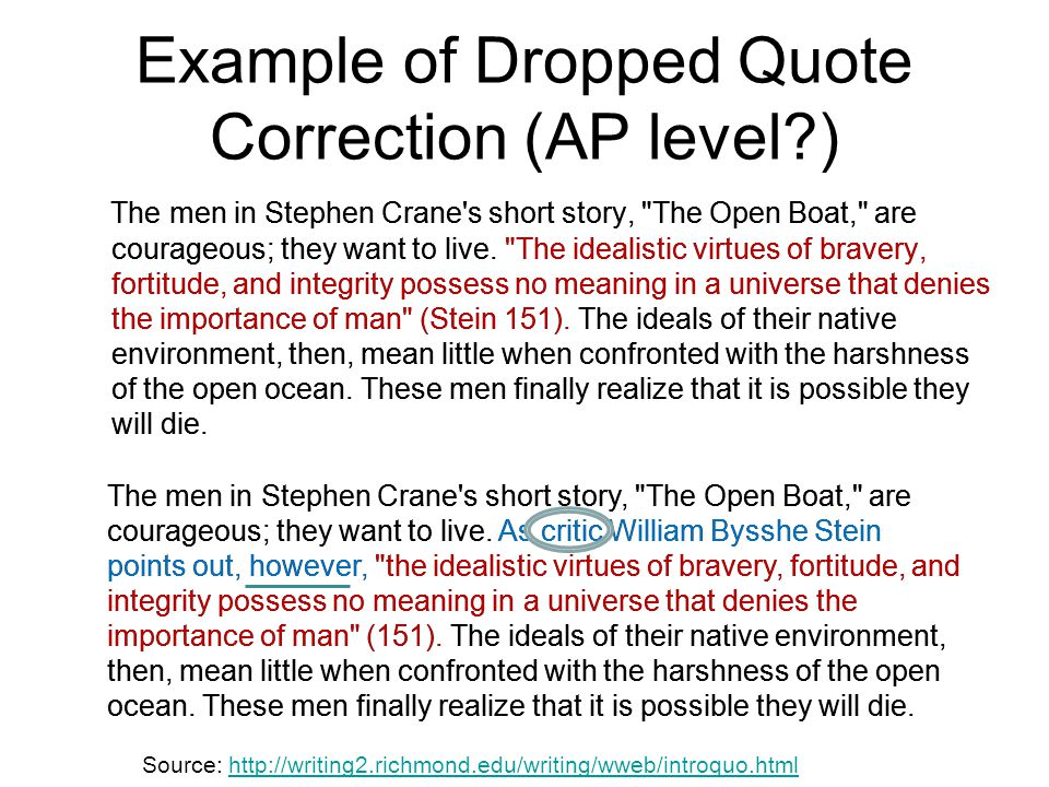Example of Dropped Quote Correction (AP level )