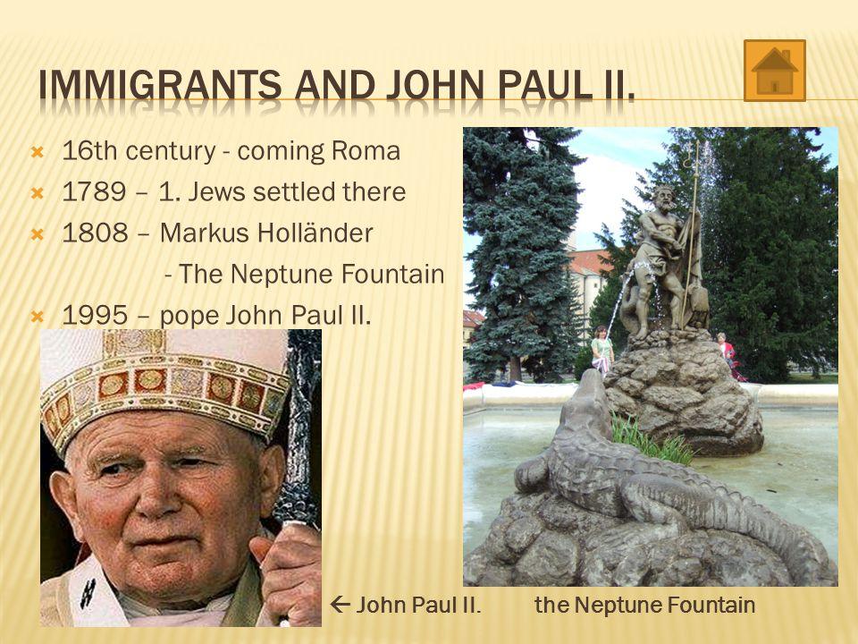 Immigrants and John Paul II.