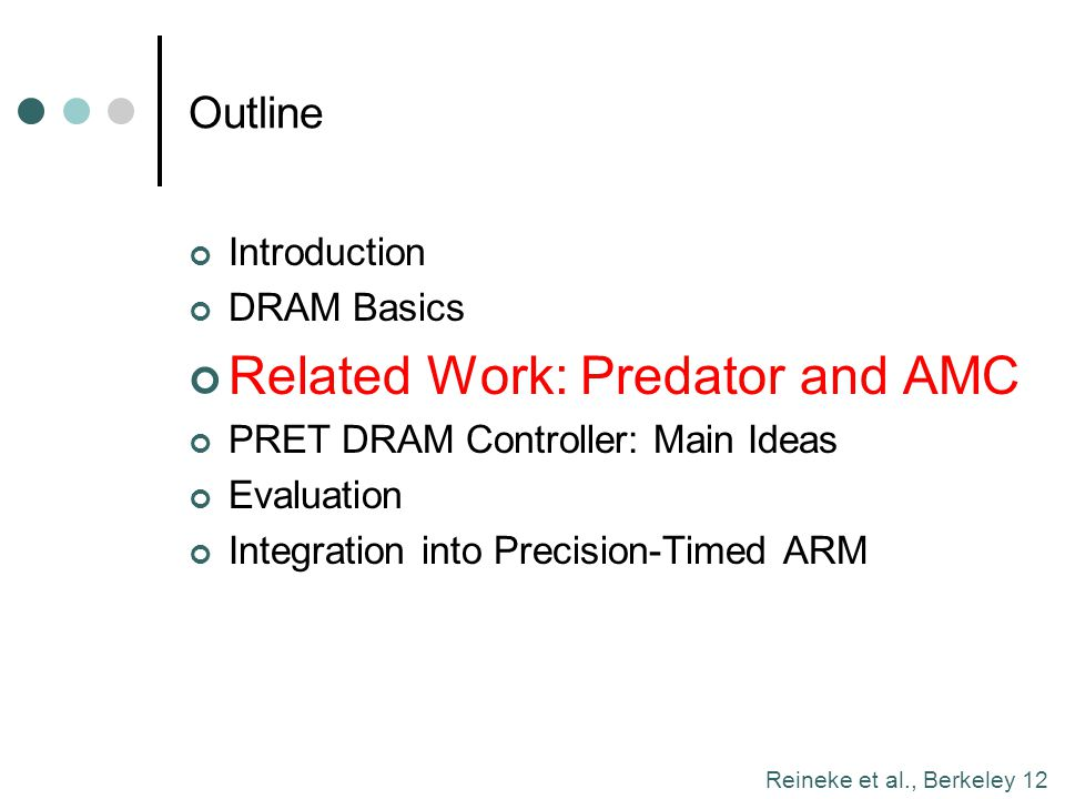 Related Work: Predator and AMC