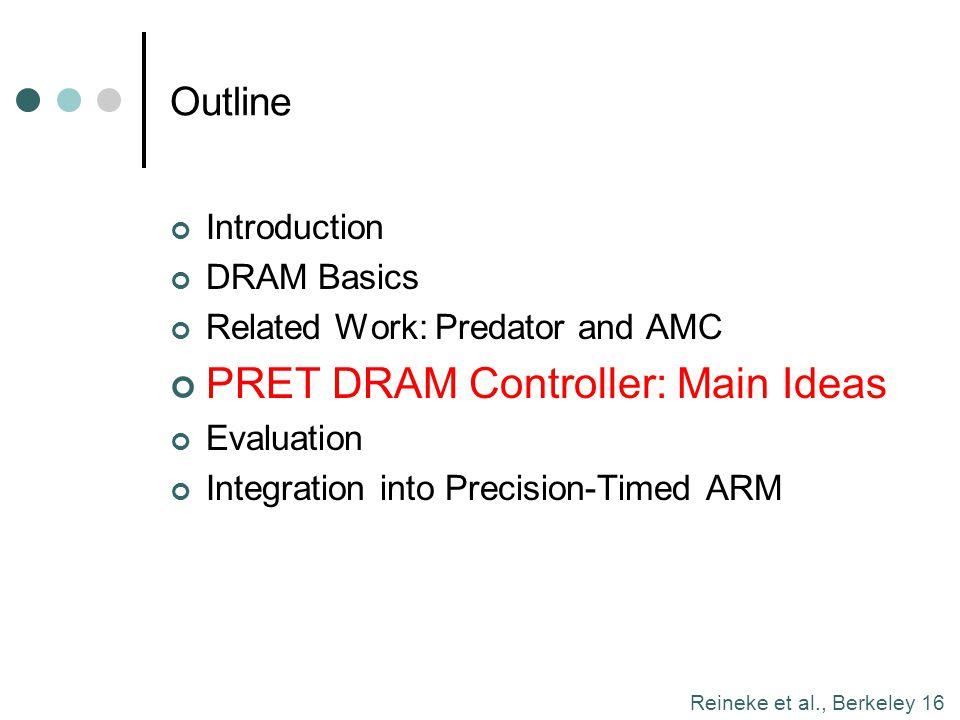 PRET DRAM Controller: Main Ideas