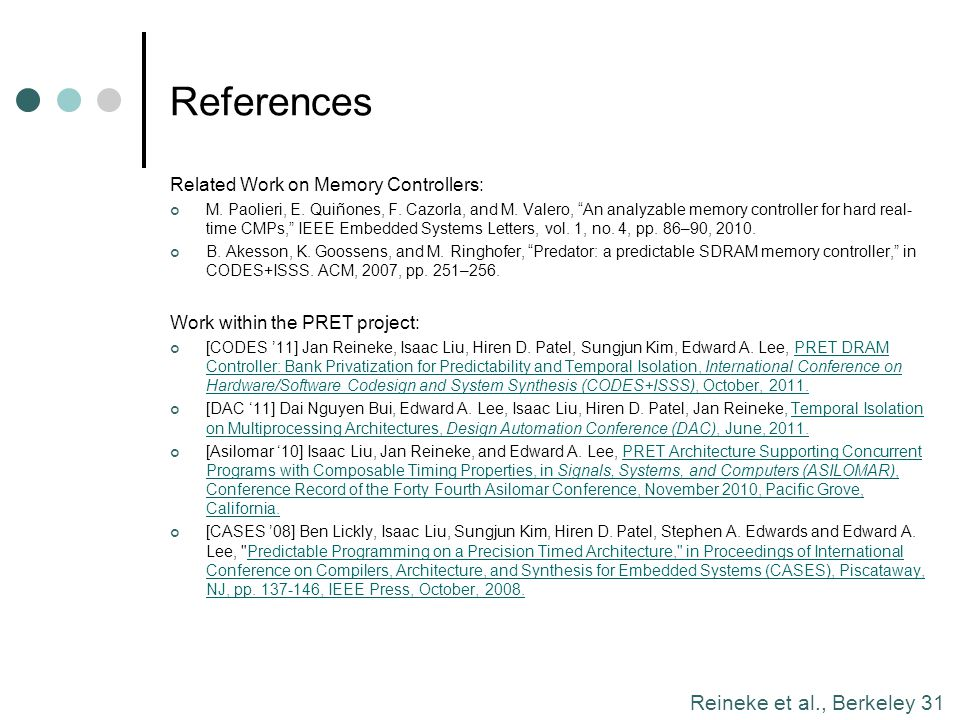 References Related Work on Memory Controllers: