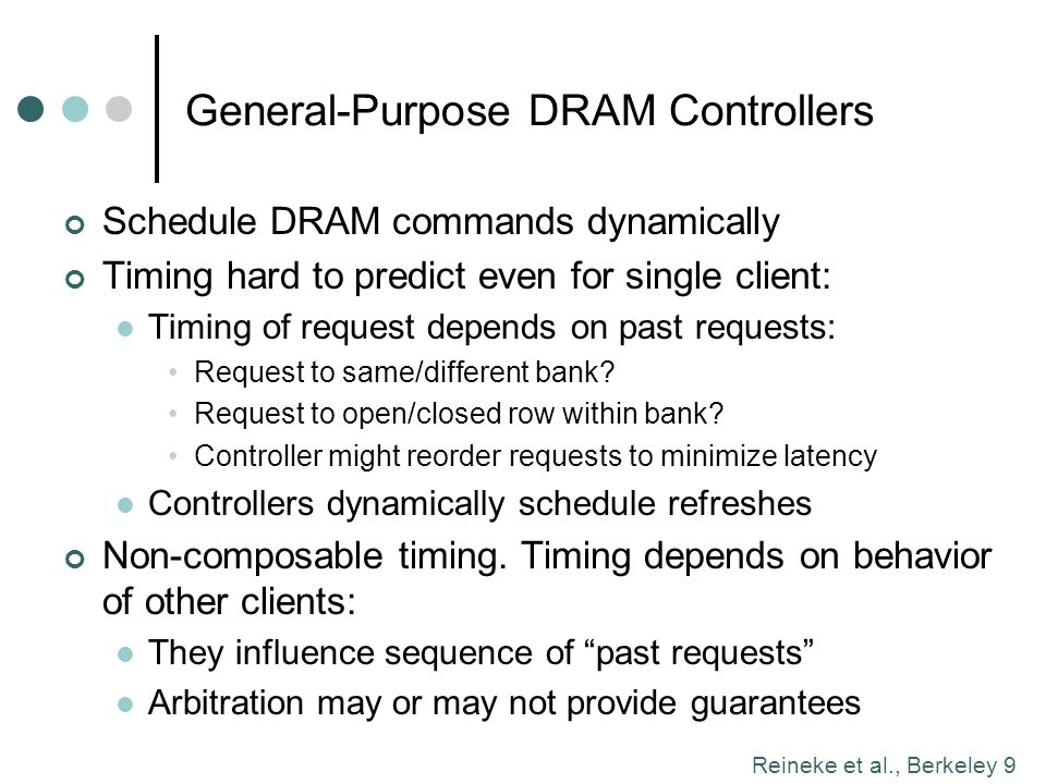 General-Purpose DRAM Controllers