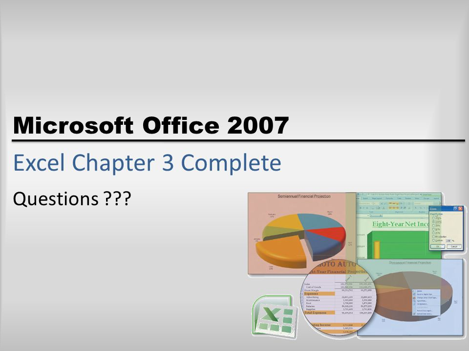 Excel Chapter 3 Complete