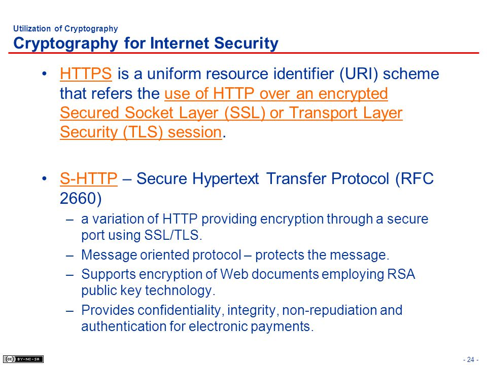 Utilization of Cryptography Cryptography for Internet Security