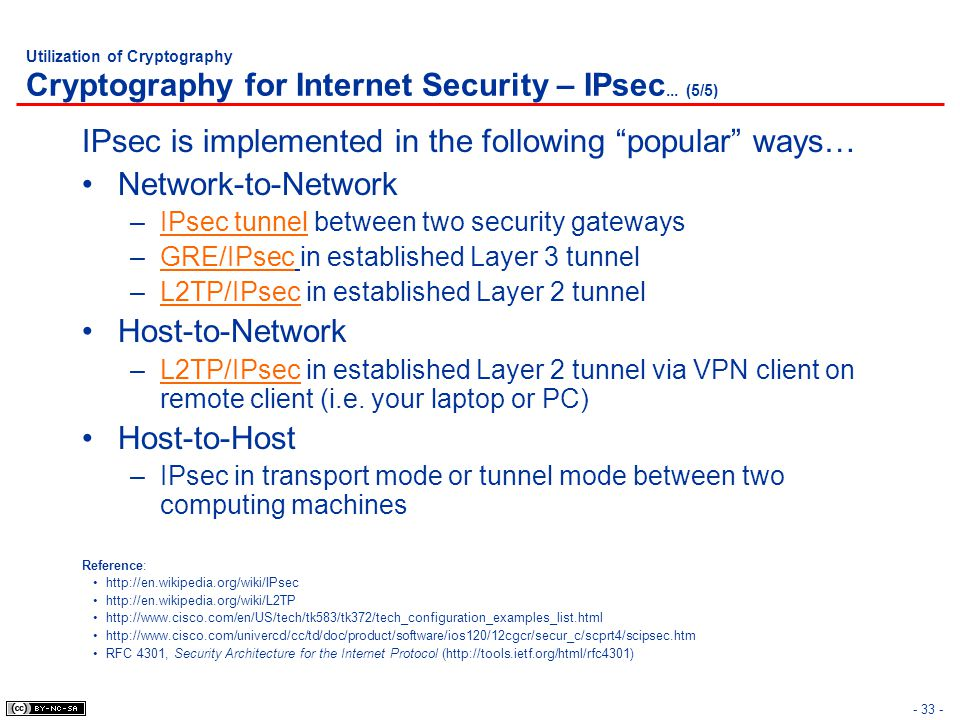 IPsec is implemented in the following popular ways…