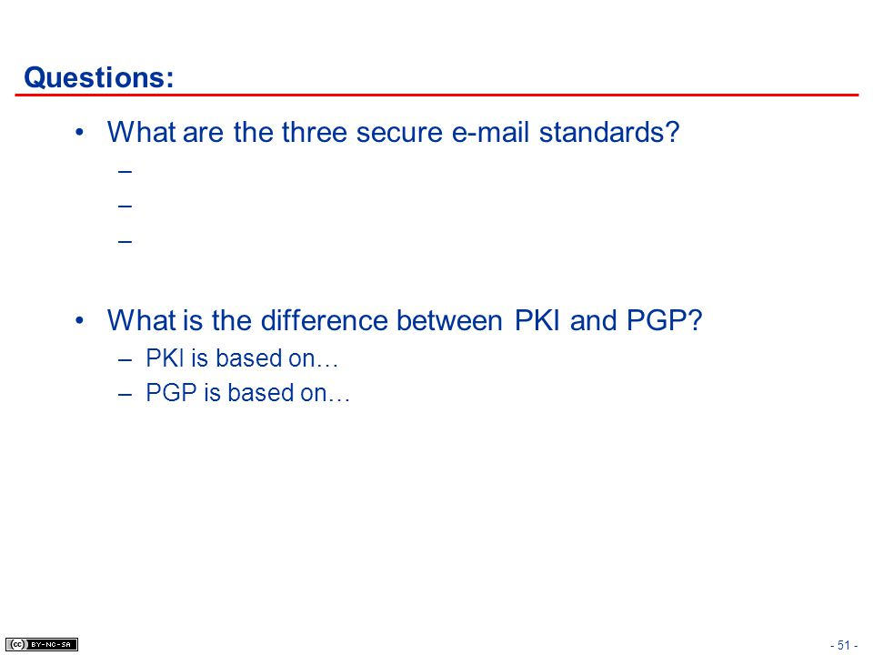 What are the three secure  standards