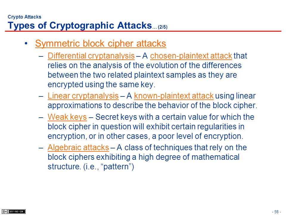 Crypto Attacks Types of Cryptographic Attacks… (2/5)