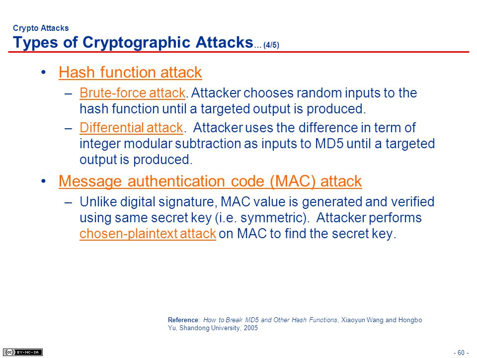 Crypto Attacks Types of Cryptographic Attacks… (4/5)