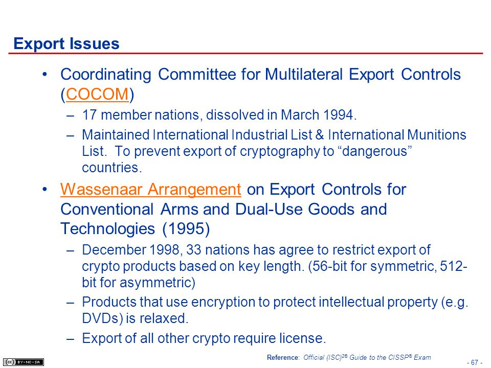 Coordinating Committee for Multilateral Export Controls (COCOM)