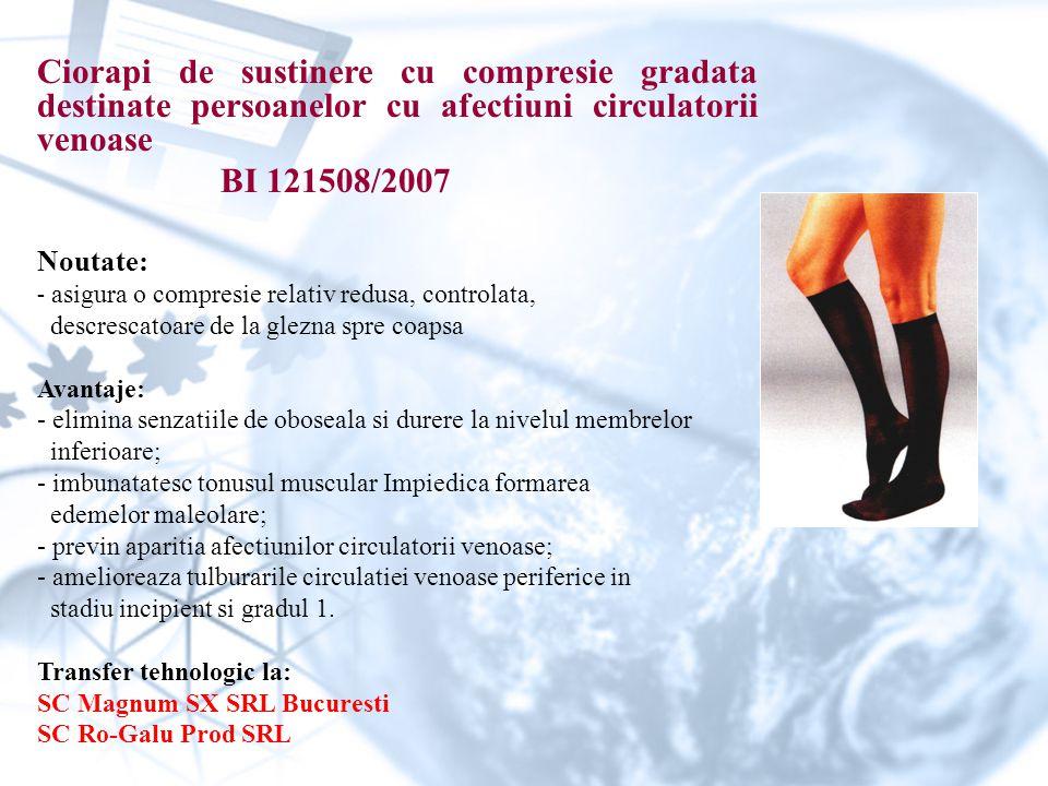 Ciorapi de sustinere cu compresie gradata destinate persoanelor cu afectiuni circulatorii venoase