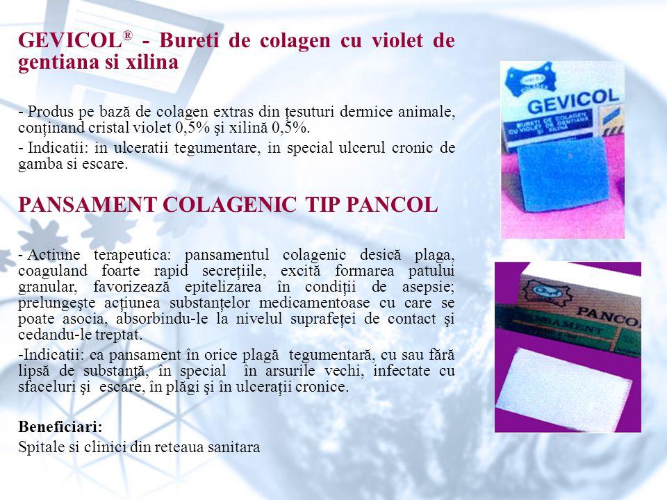 GEVICOL® - Bureti de colagen cu violet de gentiana si xilina