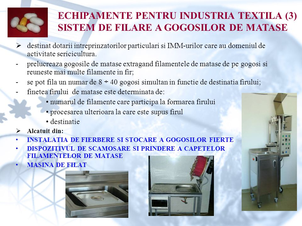 ECHIPAMENTE PENTRU INDUSTRIA TEXTILA (3)