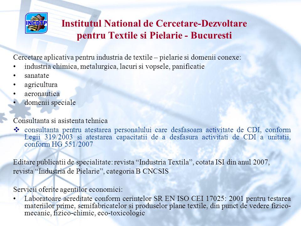 Institutul National de Cercetare-Dezvoltare pentru Textile si Pielarie - Bucuresti