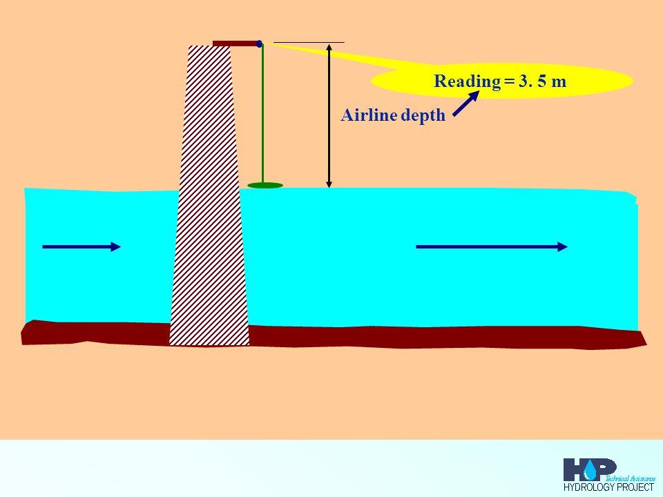 Reading = 3. 5 m Airline depth