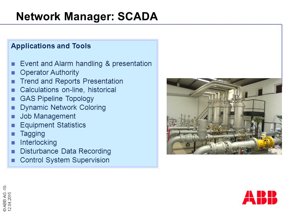 Network Manager: SCADA