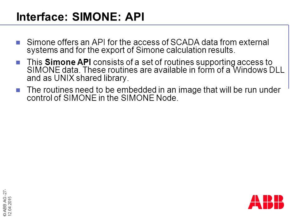 Interface: SIMONE: API