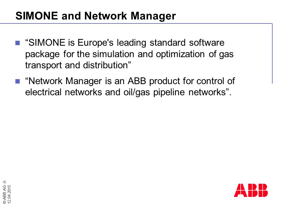 SIMONE and Network Manager